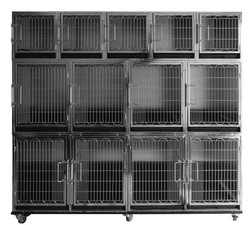 Stainless steel 304 Pet modular cage bank Vet Cage bank set Vet Hospital Cage bank VHC10