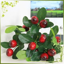Hot artificial fruit flowers cherry fake fruit decorative christmas decoration
