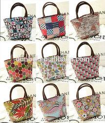 Trending hot women bags 2015 Hot sale trendy full print lady tote bags