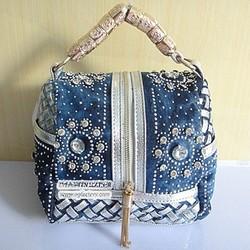 Pretty woman handbag lady tote bags trendy fashion crystal bag woven bags SY5944