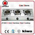 Las ventas caliente 3 0.4mm quemador de estufa de acero inoxidable kithcen aparato de gas estufa/cocina de gas
