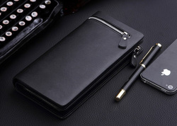 High quality genuine leather men wallet with card slots in Dongguan