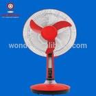 16inch solar dc fan stand fan with light cheap fan long life