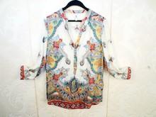 HIJ-14-LB-11-009 Women printed cotton shirt