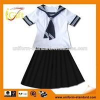 2014 Competitive price cotton poly blend New design wholesale custom school uniform shop