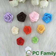 Wholesale decorative satin ribbon rose