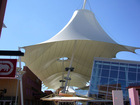PVC waterproof tensile membrane structure canopy on roofing mall