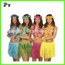 Hawaiian party supplies hula skirt lei