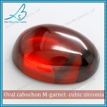 Cabochon red cubic zirconia diamonds for Jewellry