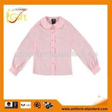 2014 Competitive price cotton poly blend New design wholesale Senior school student clothes