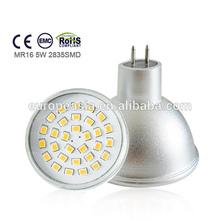 aluminium 2835smd 5w replace 50w halogen lamp mr16 led spotlight