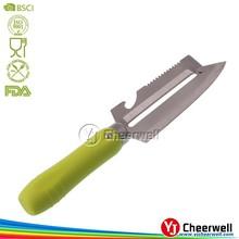 Wholesale Kitchen Gadget Bottle Opener Grater Knife in Plastice Handle