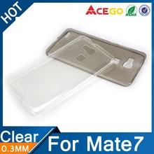 (Acego) 0.3mm Guangzhou transparent soft tpu for huawei ascend mate 7 case , case for huawei ascend mate 7