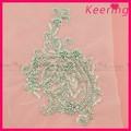 Venta al por mayor de moda hechos a mano claro rhinestone apliques bordados de cuentas wra-656