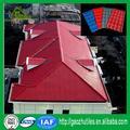 Estabilidade dimensão vermelho brilhante ge lexan palha materiais do telhado com preço baixo