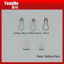 Hot Sale Brass Fancy Decorative Coloured Pear Safety Pin