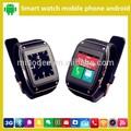android gps elegante reloj de pulsera de teléfono móvil de wifi y de llamadas de vídeo