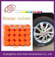 Orange colour steering wheel screw cover/wheel screw protection cover