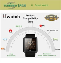 2015 China new IOS smart watch/ U10L new model watch mobile phone with Anti-theft functions