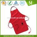 Promoción delantal de algodón para niños/asador delantal con bolsillos