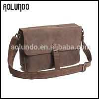 Newest Arrival Vintage Style Long Strap Mens Leather Messenger Bag