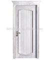 Dernière conception luxueux. placage en bois massif porte extérieure avec la couronne