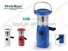 (160091) Solar hand crank LED camping handheld plastic rechargeable lantern