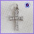 Moda takı çin toptan gümüş takılar metal taş çapraz kolye #11193