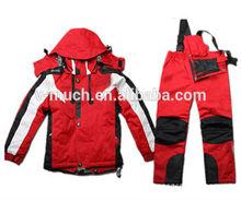 2015 Ladies fashion waterproof winter warm fancy snow ski jacket suit