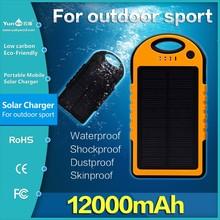 Waterproof Portable Solar Charger 12000mah 1Year Warranty,can Print Custom Logo