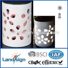 Landsign solar light factor of color changing solar glass ceramic light