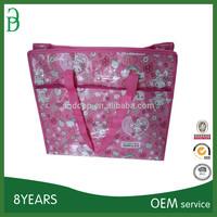 reusable colorful foldable non woven shopping eco bag