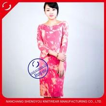 2015 fashion snow wash casual women long dresses wholesale china