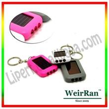 (160093) Promotion gift customized logo solar led mini torch light key chain