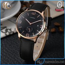 Genuine leather simple design 2015 calendar man replica watch