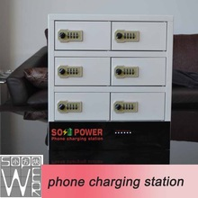 2015 new arrival smart locker phone charging station solar charger case for smart phone5s