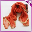 2015 fashion scarf with golden band