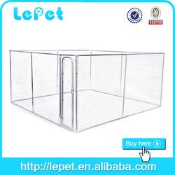 2015 new wholesale galvanize tube dog run kennel enclosure