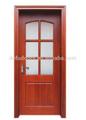 clásicointerior sólida puerta de madera con vidrio
