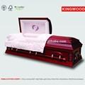 Funeral caixão acessórios ESTHER feminino cereja mdf folheado caixões