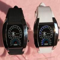 digital sport car meter airline watch led