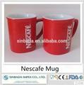 couleur rouge classique nescafe mug en céramique