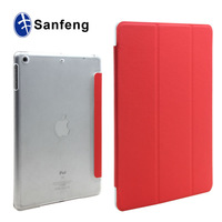 Luxury Flip Stand Elastic PC+PU Leather Case Cover for iPad 5
