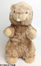 custom cute baby plush material animal staff toy plush marmot