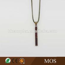 Hot sale simple bar shape rhinestone choker necklaces