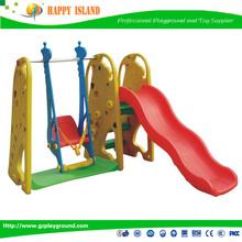 Factory Price CE GS SASO Food Grade Giraffe Slide And Swing Indoor Children Plastic Swing And Slide Set