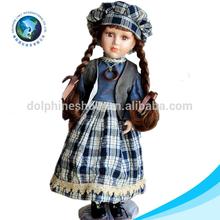Handmade atacado bonito 18 polegada americano russian porcelana boneca de cerâmica