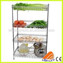 CE certificate free designed china supplier metal bar shelves ,pipe rack cart, rack storage vegetables