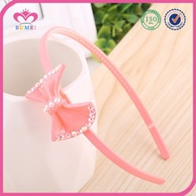 Cute girls candy color bow hairband manufacturer
