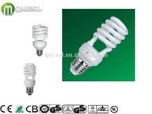 energy saving bulb half spiral cfl bulb Half Spiral energy saving bulb cfl lamp holder